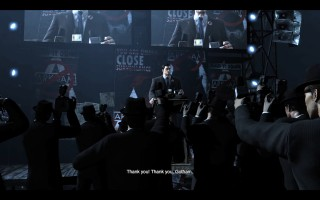 Batman: Arkham City - Bruce press conference