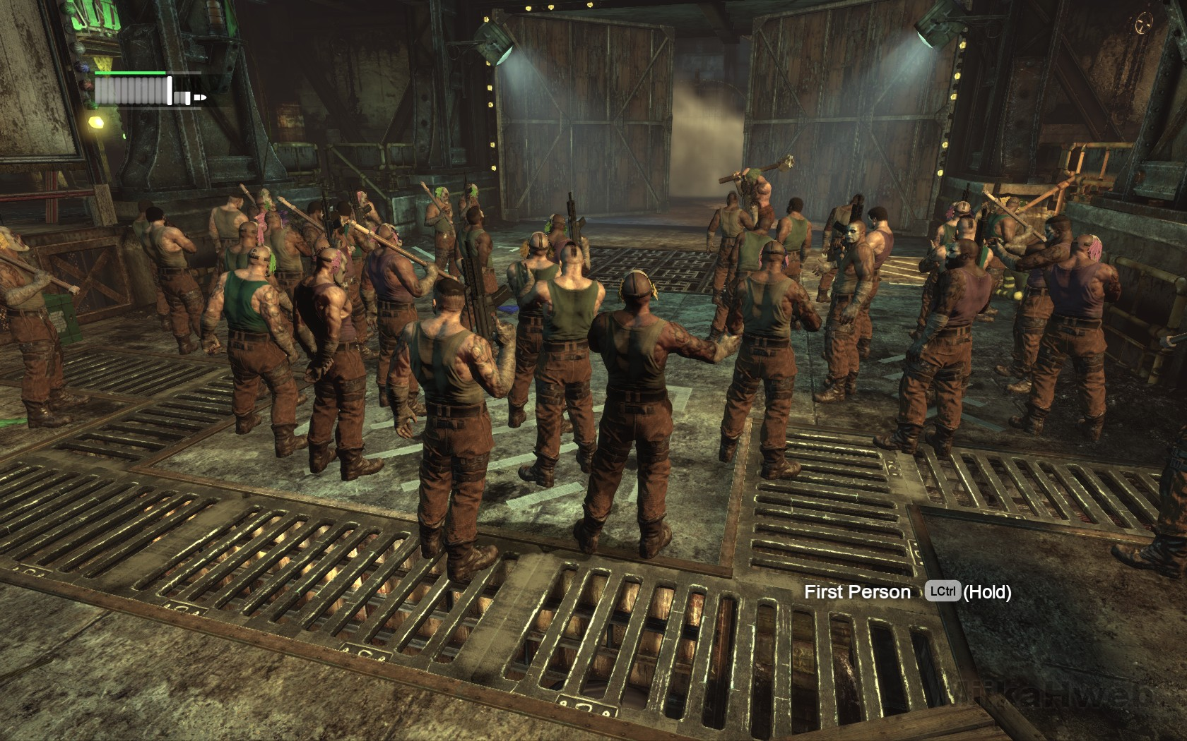 batman arkham city how to get in the steel mill