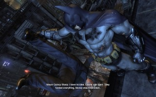 Batman: Arkham City - Mayor Quincy Sharp hanging