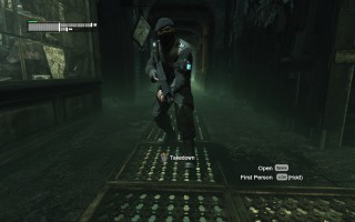 Batman: Arkham City - Floor grate takedown on TYGER guard