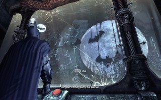 "Batman: Arkham City - Penguin's trophys: ""Coming soon, the Batman"""