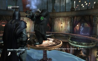 Batman: Arkham City - Overriding Freeze's gun on Penguin