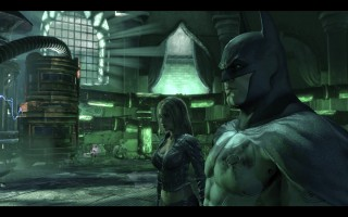 Batman: Arkham City - Talia al Ghul and Batman at the Lazarus Pit