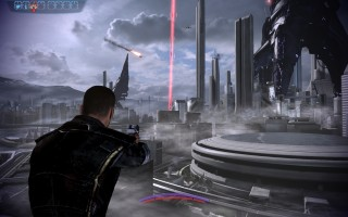 Mass Effect 3 - First moments of Reaper invasion on Earth.