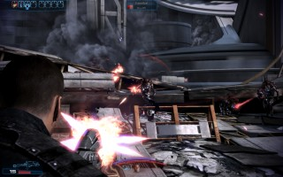 Mass Effect 3 - Fighting a Husk attack