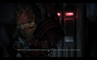 Mass Effect 3 - Urdnot Wrex aboard Normandy