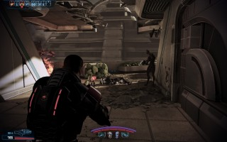 Mass Effect 3 - Cerberus troops attacking planet Sur'Kesh