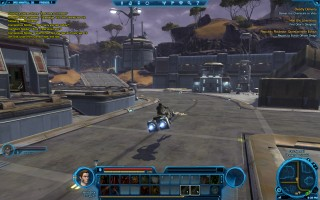 Star Wars: The Old Republic - Level 9 Smuggler gameplay on planet Ord Mantell. Taxi Speeder
