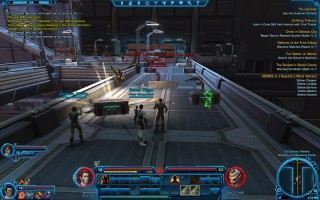 Star Wars: The Old Republic - Level 12 Gunslinger gameplay on Coruscant. Old Galactic Market