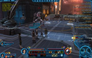 Star Wars: The Old Republic - Level 13 Gunslinger gameplay on Coruscant. Old Galactic Market, SD-0 the Coruscant Heroic World Boss