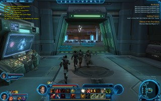 Star Wars: The Old Republic - Level 13 Gunslinger gameplay on Coruscant. Old Galactic Market
