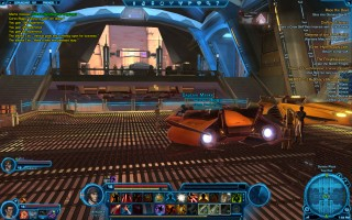 Star Wars: The Old Republic - Level 16 Gunslinger gameplay on Coruscant. Senate Plaza - Taxi Pad