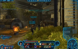 Star Wars: The Old Republic - Level 17 Gunslinger gameplay on Taris. Republic Resettlement Zone