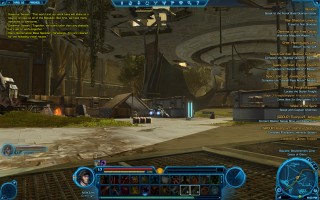 Star Wars: The Old Republic - Level 17 Gunslinger gameplay on Taris. Speeder Taxi
