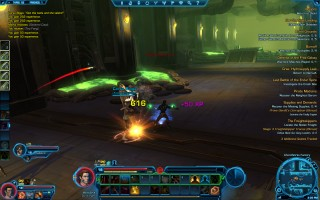 Star Wars: The Old Republic - Level 18 Gunslinger gameplay on Taris. ChemWorks Factory