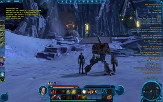Star Wars: The Old Republic - Level 19 Gunslinger gameplay. Checking on Ilum - Republic Base Camp
