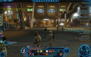 Star Wars: The Old Republic - Level 19 Gunslinger gameplay on Taris. Olaris Spaceport
