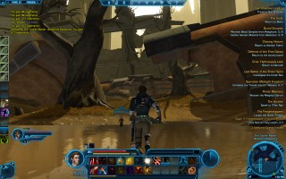 Star Wars: The Old Republic - Level 20 Gunslinger gameplay on Taris. The Tularan Marsh