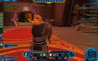 Star Wars: The Old Republic - Level 21 Gunslinger gameplay on Nar Shaddaa. Gamorrean security guard