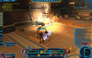 Star Wars: The Old Republic - Level 21 Gunslinger gameplay on Nar Shaddaa. Warehouse District Area
