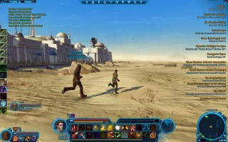 Star Wars: The Old Republic - Level 24 Gunslinger gameplay on Tatooine. The city of Anchorhead