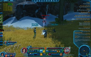 Star Wars: The Old Republic - Level 29 Gunslinger gameplay on Alderaan. Foraging Manka-Cat