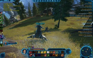 Star Wars: The Old Republic - Level 30 Gunslinger gameplay on Alderaan. Traveling with speeder bikes
