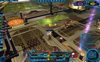 Star Wars: The Old Republic - Level 32 Gunslinger gameplay. Playing Huttball on a PvP warzone