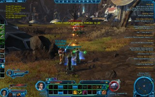 Star Wars: The Old Republic - Level 33 Gunslinger gameplay on Balmorra. Fighting Imperial droids