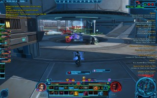 Star Wars: The Old Republic - Level 34 Gunslinger gameplay on Alderaan Warzone. Re-capturing the center control point