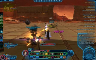 Star Wars: The Old Republic - Level 37 Gunslinger gameplay on planet Quesh, Broga's Palace