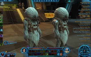 "Star Wars: The Old Republic - Level 37 Gunslinger gameplay. ""Talz"" creatures on Republic Orbital Station"