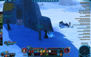 Star Wars: The Old Republic - Level 38 Gunslinger gameplay on planet Hoth.