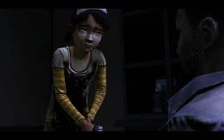 The Walking Dead - Clementine shoots Lee before he turns into a zombie.