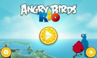 Angry Birds Rio - Title Screen
