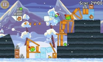Angry Birds Seasons - Christmas level gameplay