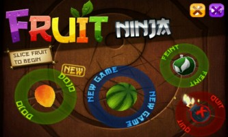 Fruit Ninja - Main Menu