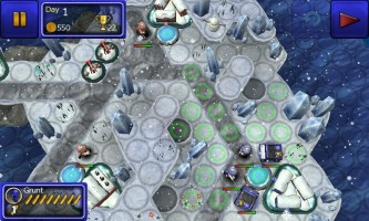Great Little War Game - Snow level gameplay