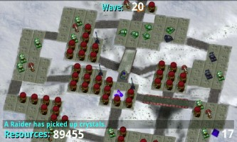 Tower Raiders 2 - Reactor-mania strategy at Raidpocalypse difficulty. Total 90 000 resources by the last wave. :)