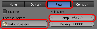 Smoke flow settings