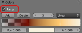 Emission texture color ramp.
