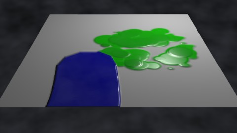 Wetmap + paint map texture render