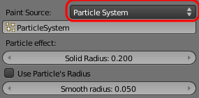 Particle painting settings